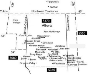 Map of Rotary District 5370
