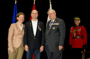 Alberta Premier Redford,  me and The Honourable Donald S. Ethell, Lieutenant Governor of Alberta