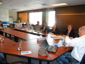 Meeting the Rotary Club of Yellowknife executive in Yellowknife, NWT