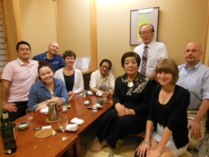 Very special out for supper in Koriyama.  All past host families for Karly.