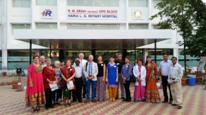 A Rotary funded hospital in Vapi, India - with the RFE team