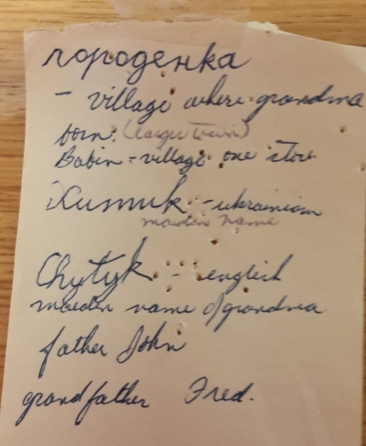 Polly Mykytiuk's Handwriting, Babin etc